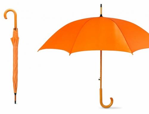 Parapluie automatique avec poignée en bois